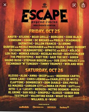 Escape 2019 Friday ticket for Sale in San Diego, CA
