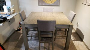 WOODEN Bar Stool DINING KITCHEN TABLE w/ 4 Chairs for Sale in Altamonte Springs, FL