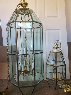 Beautiful chandeliers Large 44 x 15. Small 24 x 9 inches. $ 120.00 both. for Sale in Marana, AZ