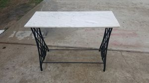 Old singer sewing machine stand with granite top for Sale in Crestview, FL