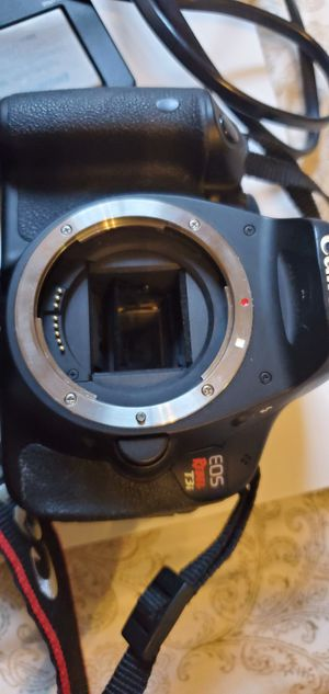 Canon t3i rebel with 2 different lenses and camera bag for Sale in Coppell, TX