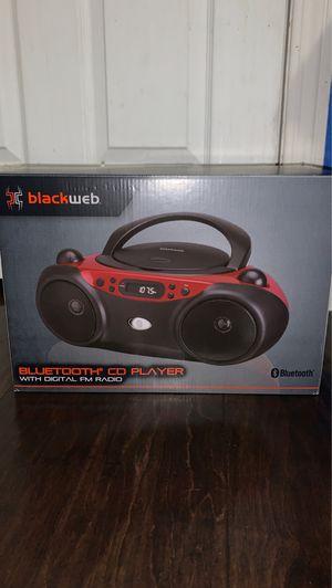 Blackweb Bluetooth CD player with digital FM radio for Sale in Moreno Valley, CA