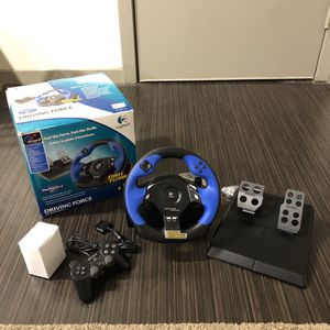 LOGITECH DRIVING FORCE PS2 WHEEL AND PEDAL for Sale in Dallas, TX