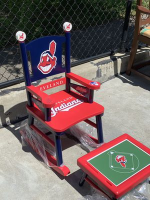 Cleveland Indians Rocking Chair for kid for Sale in Quincy, MA