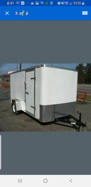 White enclosed utility trailer for Sale in Nashville, TN