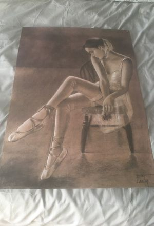 """"""" A Ballerina"""" sketch by Yusuf Zineian . Purchased in Florence Italy . for Sale in Brockton, MA"""