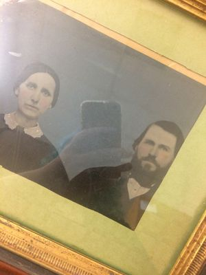 Colorized Victorian tintype of couple for Sale in Riverside, CA