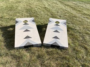 New Custom Corn Hole Boards Game Grey Stain for Sale in Westland, MI