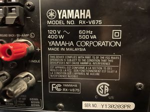 Yamaha RX-V675 with air play for Sale in Fort Walton Beach, FL