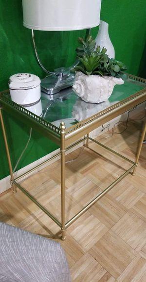 Gold mirror table for Sale in Oak Glen, CA