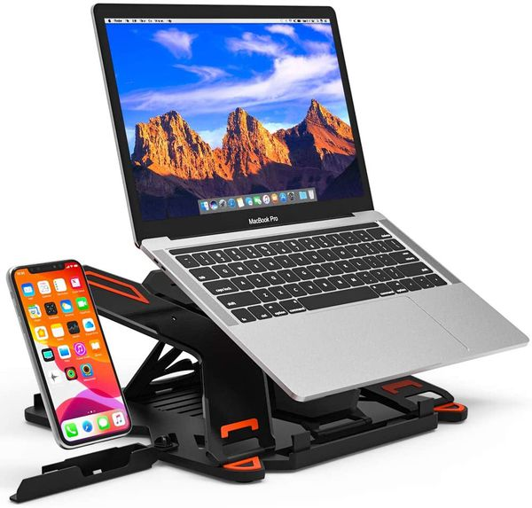 "Adjustable Laptop Stand, Ergonomic Riser Notebook Computer Holder Stand Compatible with MacBook Air Pro, Dell XPS, HP, Lenovo More 10-15.6"" Laptops"