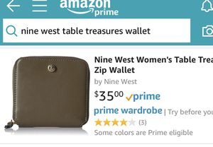 nine west leather table treasure wallet for Sale in Baltimore, MD