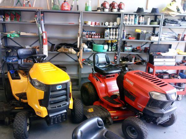 We fixed garden equipment!!