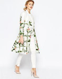 Ted baker karolie secret trellis white floral dress for Sale in Herndon, VA