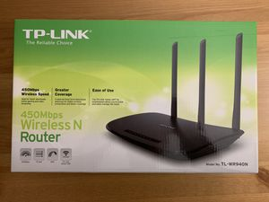 TP-Link N450 Wi-Fi Router - Wireless Internet Router for Home(TL-WR940N) for Sale in Fairfax, VA