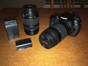 Canon EOS 60d (plus two lens & battery and charger) for Sale in Sacramento, CA