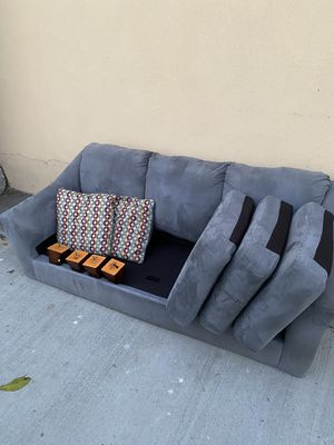 Very nice grey suede sofa $100 for Sale in San Diego, CA
