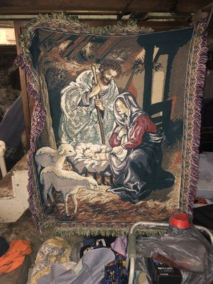 Holy family throw blanket for Sale in Cumberland, RI