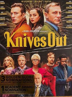 KNIVES OUT - New, Unopened - 4K UHD Blu-ray + Blu-Ray + Digital Code for Sale in Reston,  VA