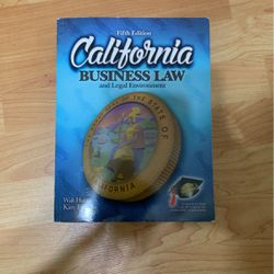 California Business law & legal environment Fifth Edition for Sale in East Los Angeles,  CA