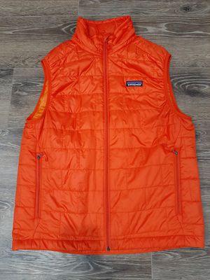 Patagonia Nano Puff Vest Mens Size Small Orange Primaloft for Sale in Irving, TX