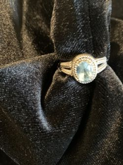 Blue Topaz Sterling Silver Ladies Ring size 7-8 for Sale in Folsom,  CA