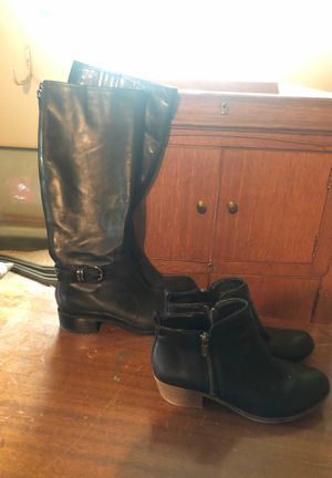 Black boots size 6.5 two pair for Sale in Watauga, TX