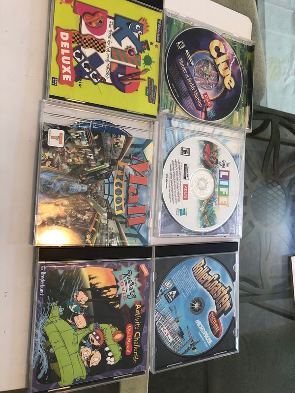 6 computer games and designs. Design and crest your own mall and roller coaster plus other computer games
