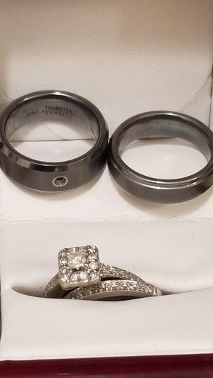 2 Men Tungsten Wedding ring bands Size 8.5-9 for Sale in Hawthorne, CA
