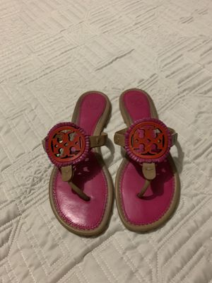 Tory Burch Miller fringe sandal Sz7.5 for Sale in Irving, TX
