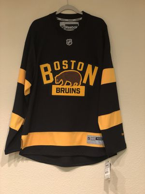 "Boston Bruins 2016 Winter Classic Jersey - ""Original 6"" - Celtics New England Patriots Red Sox Revolution University Terriers Bobby Orr for Sale in Gilbert, AZ"