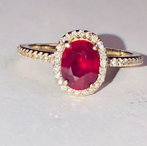 classic diamond Halo ring with diamond accents for Sale in Ontarioville, IL