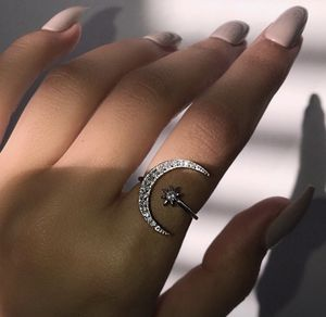 New Crescent Moon & Star Ring. 18k Gold/ Rose Gold Filled. For anniversary gift valentines birthday wedding for Sale in Los Angeles, CA