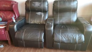 Leather Recliner/ Theater chairs for Sale in Seattle, WA