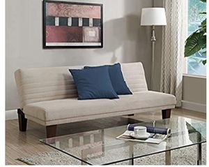 A very good condition tan futon couch bed for Sale in South Bend, IN