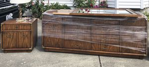 All offers considered! Mid century credenza, mirror, table set for Sale in Seattle, WA