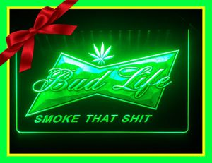 🍁NEW 3D BUD LIFE. LED SIGN🍁MAN CAVE. GARAGE. WALL DECOR. NIGHT LIGHT🍁 for Sale in Ontario, CA