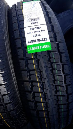 St225 75 r15 trailer tires 10ply 4 new$220 for Sale in Lake Elsinore, CA