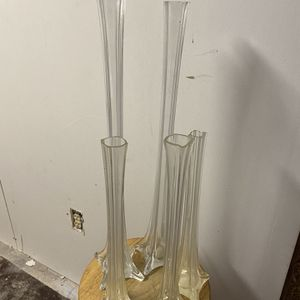 5- Clear Eiffel Tower Glass Flower Vase for Sale in DeSoto, TX