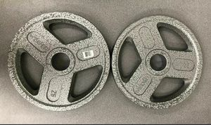 25 lb Olympic Weight Plates 2 inch - Pair Weider Hammer-Toned Cast Iron OLYMPIC GRIP PLATES. BRAND NEW!!! for Sale in Kissimmee, FL