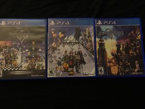 Kingdom Hearts 1.5 2.5 2.8 and 3 Ps4 for Sale in Gardena, CA