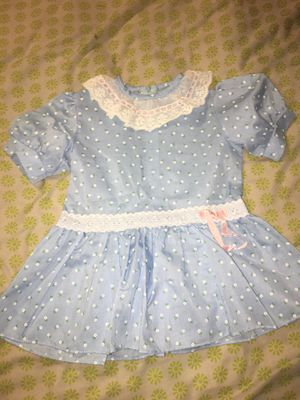 Vintage Roget Ltd Girls Dress Blue with White Flowers 3T for Sale in Fort Worth, TX