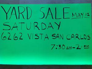 BIG YARD SALE!!!!!! for Sale in San Diego, CA