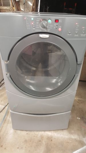 WHIRLPOOL DUET FRONTLOAD ELECTRIC DRYER WITH PEDESTAL for Sale in Grove City, OH