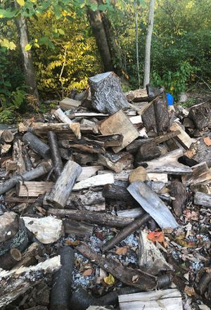 Free firewood. Cut maple, ash and oak. Aged 1 year and ready to use. Have more camp wood next to this. This is prob 1/2-1 cord. for Sale in Rehoboth, MA
