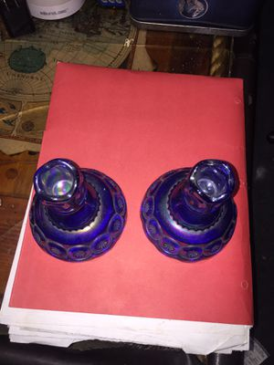 Carnival glass candle holder for Sale in Summersville, WV