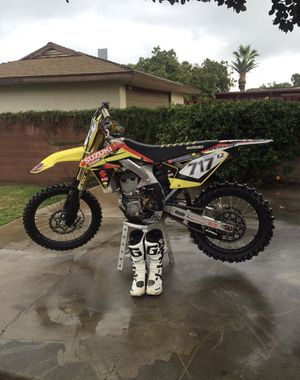 2014 Suzuki RMZ 450 Dirt Bike with Many Extras & Upgrades for Sale in Corona, CA