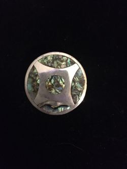 Sterling And Abalone Mexican Brooch for Sale in Smithfield,  RI