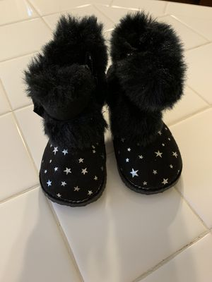Black baby girl boots for Sale in Beaverton, OR