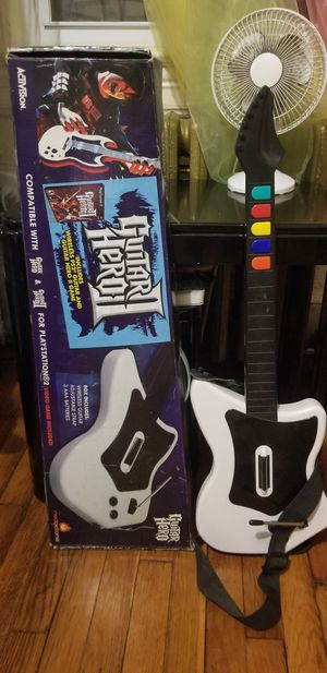 Guitar Hero II Game and 2 wireless Guitars PS2 for Sale in Washington, DC